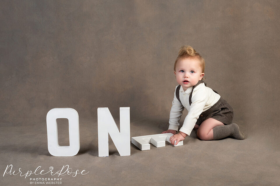 Little C's 1st birthday photoshoot in the studio