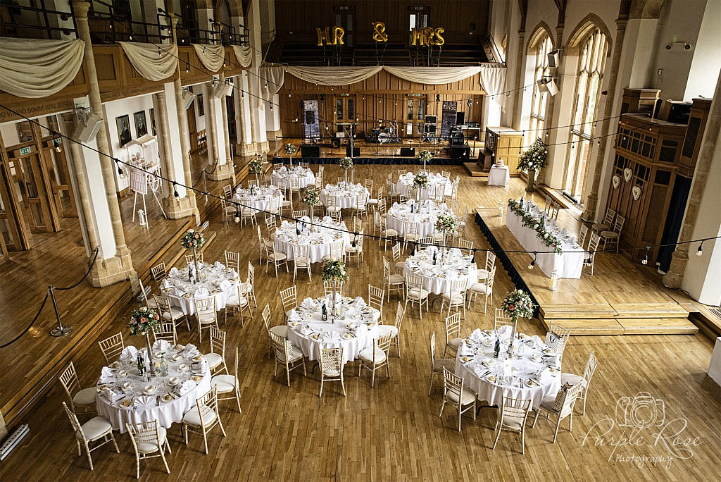 Bedford School wedding reception room