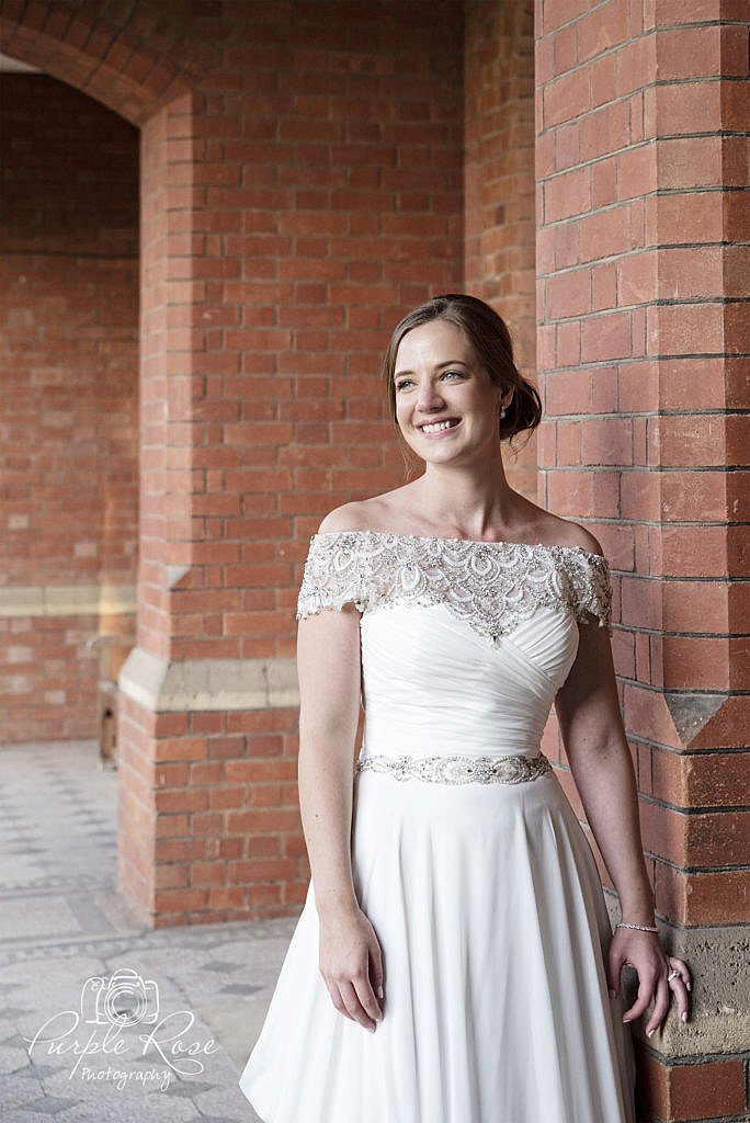 Bridal portrait at Bedford School 4