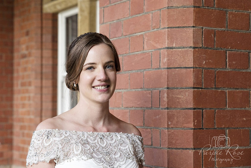 Bridal portrait at Bedford School 1