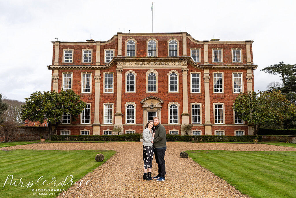 Couple in front of Chicheley Hall