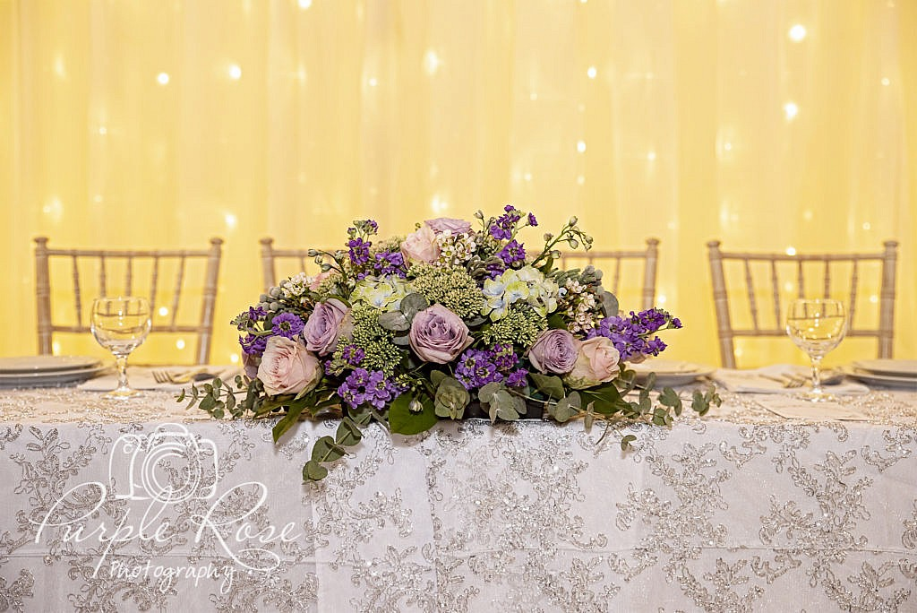 Wedding flowers for top table