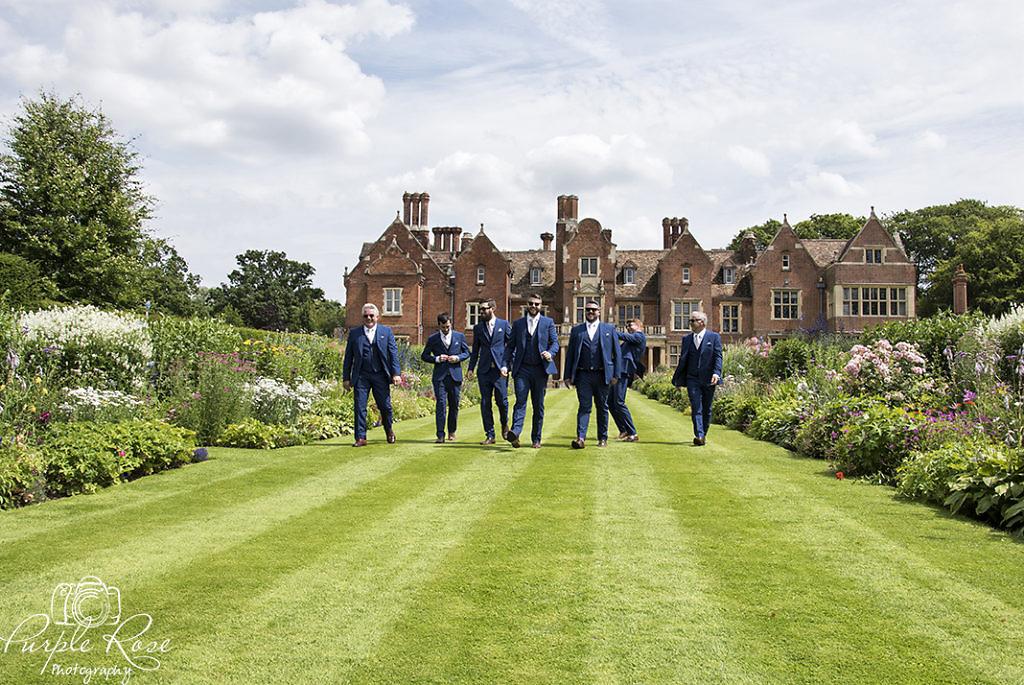 Grooms men heading to the wedding venue