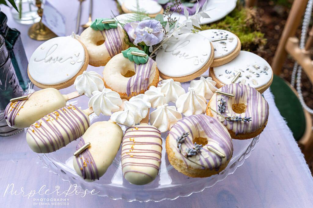 Plate full of edible treats