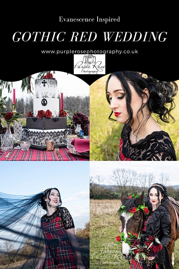 Gothic red wedding inspiration