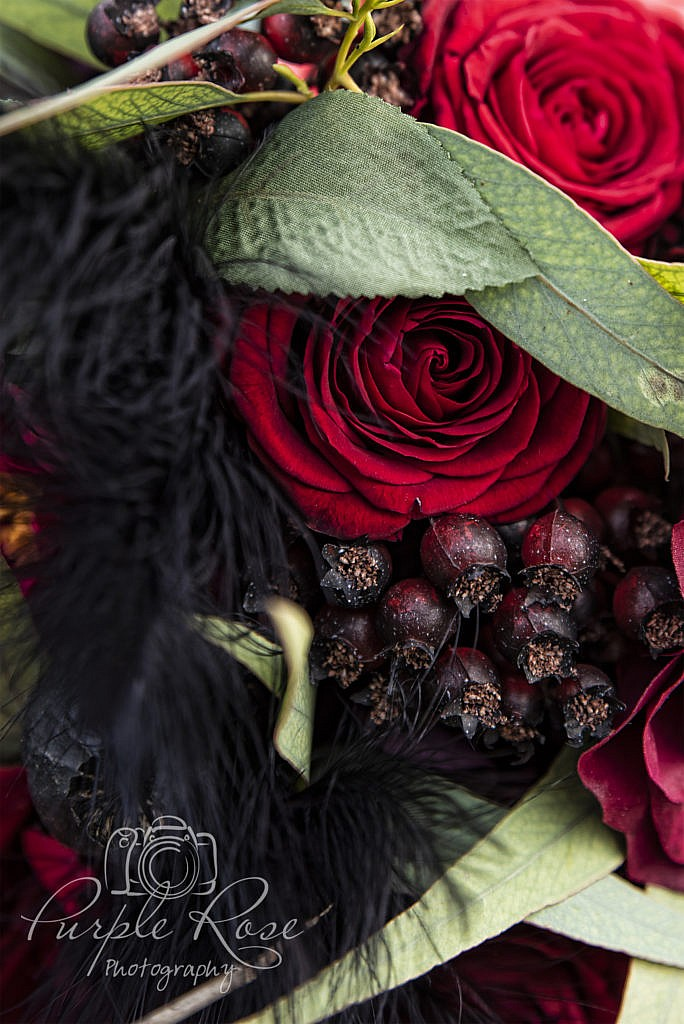 Black & Red Wedding bouquet