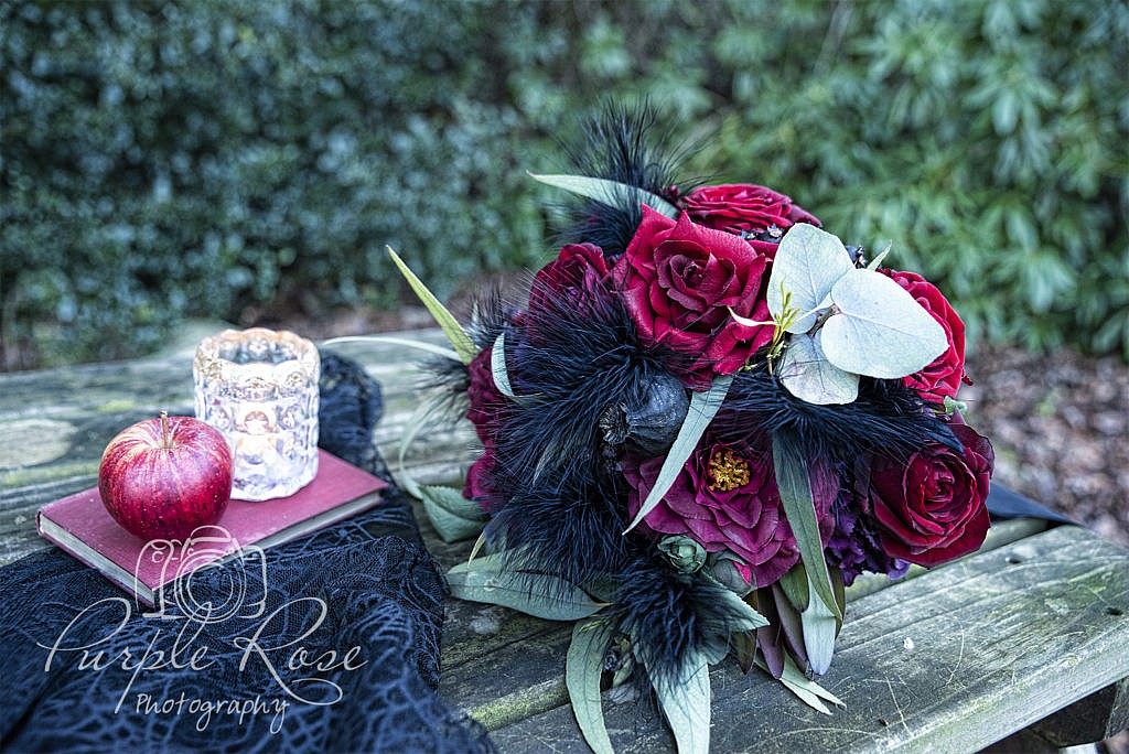 Gothic brides wedding bouquet