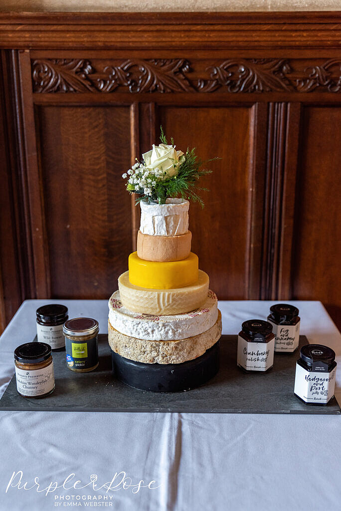 Cake made of cheese wheels