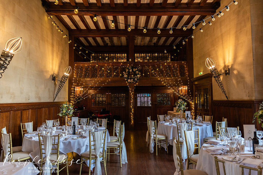 Reception room at Farnham Hall