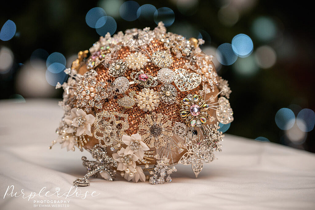 Brides metal wedding bouquet