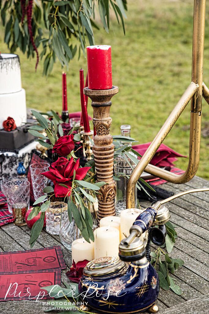 Wedding decor on a table