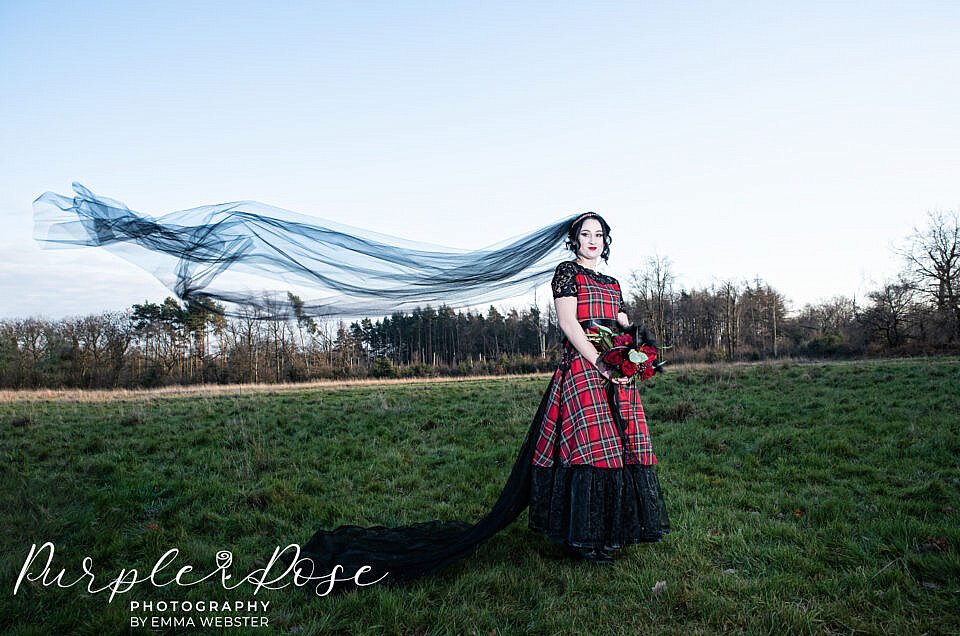 Gothic Red and Black Wedding Inspiration