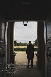 Groom waiting for his bride to arrive.