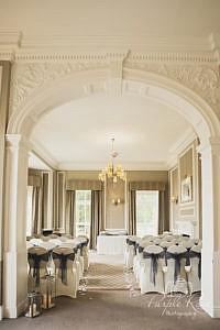 View of wedding ceremony room