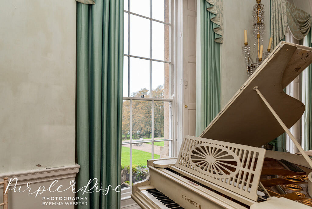 Piano in Kelmarsh Hall Northampton