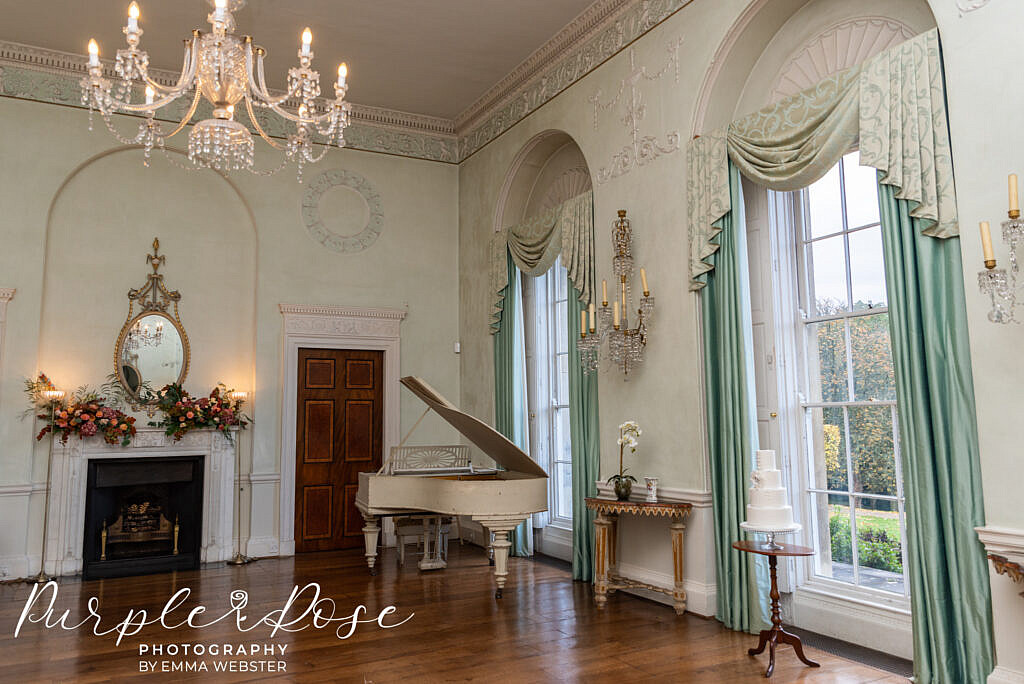 Stunning wedding reception room in Kelmarsh Hall Northampton