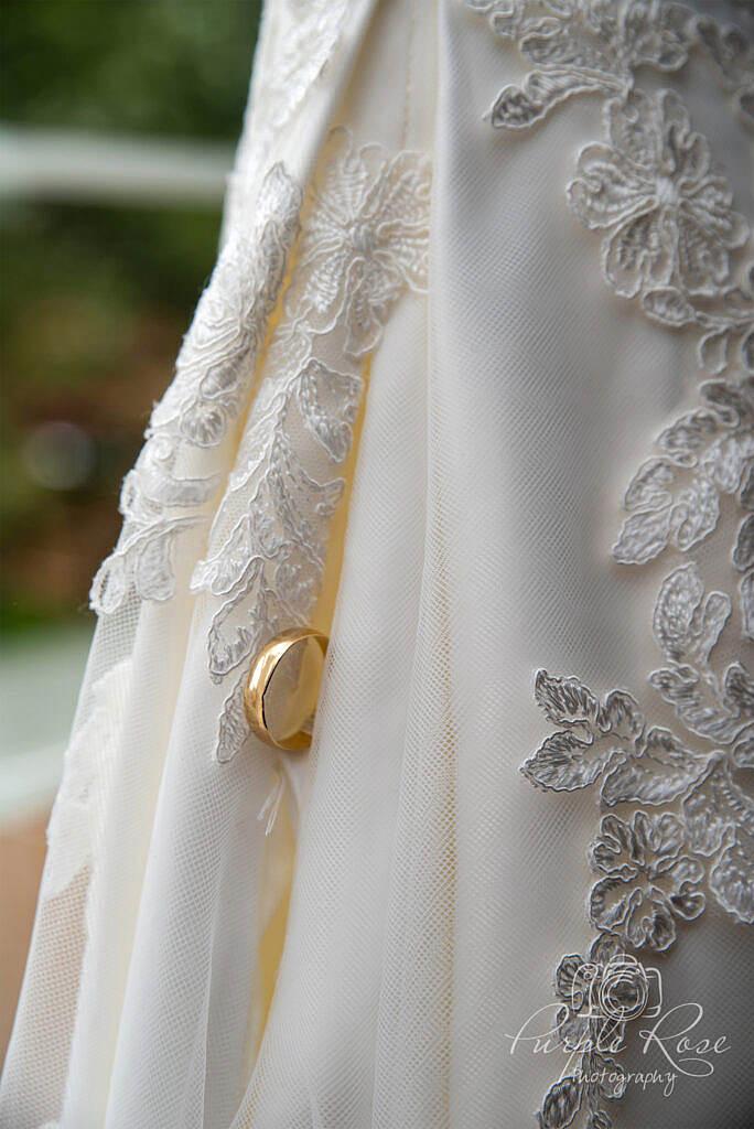 Detail photo of brides wedding dress