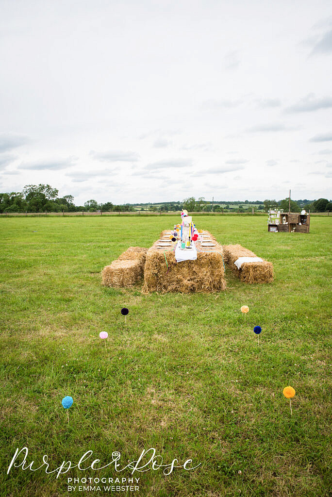Hay stack wedding table