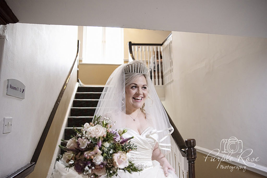 Bride preparing to head to her wedding