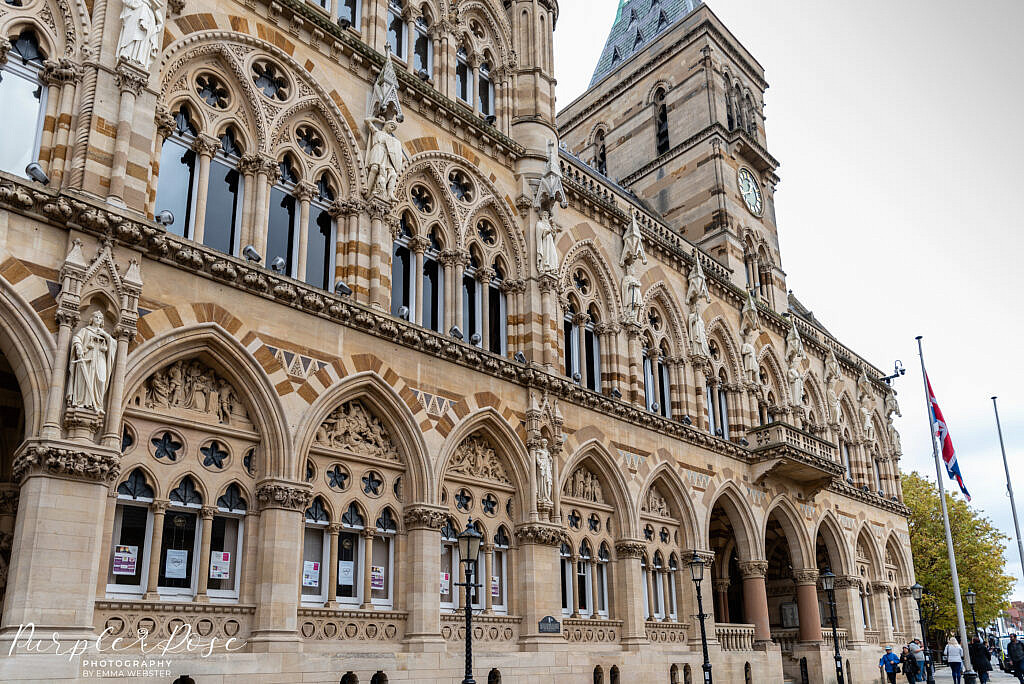 The outside of the Guildhall Northampton