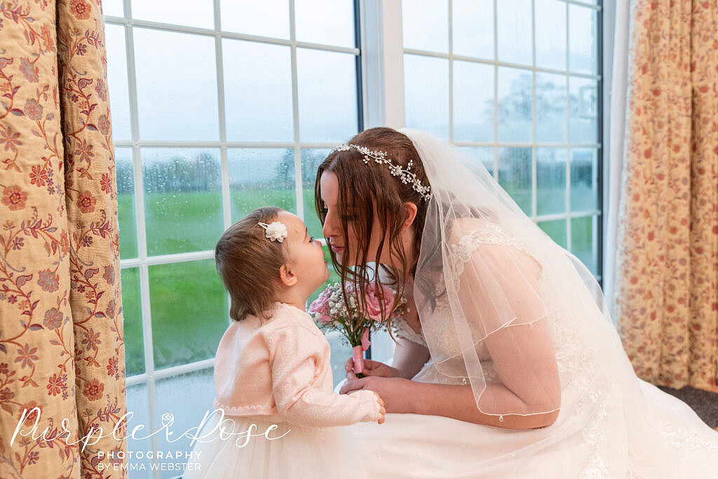 Bride with her daughter