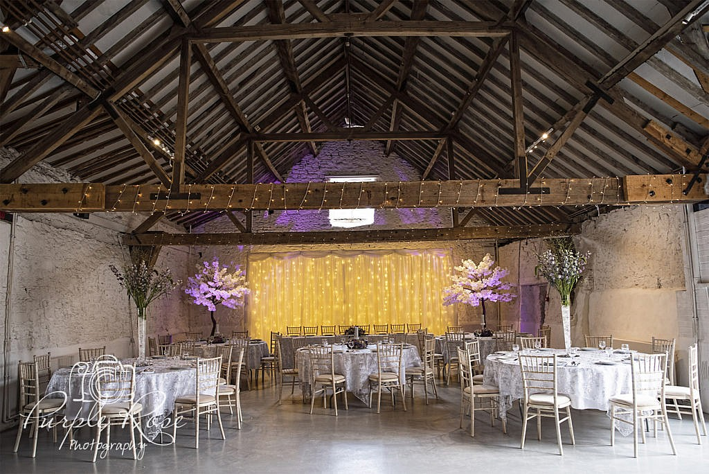 Cruck Barn in Milton Keynes ready for a wedding