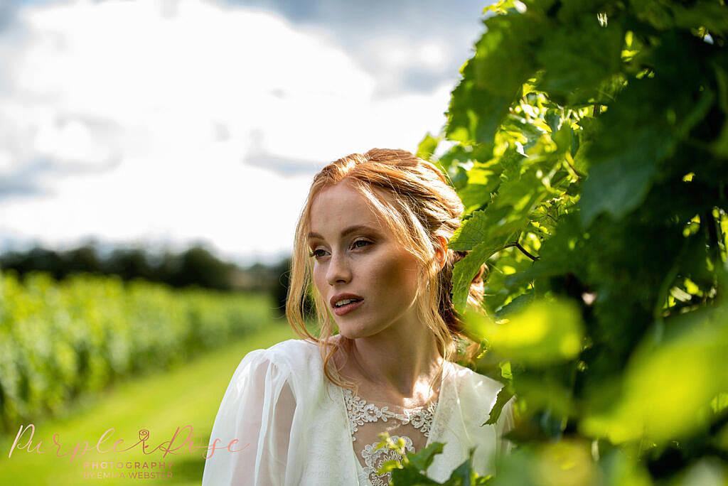 Bride by vines