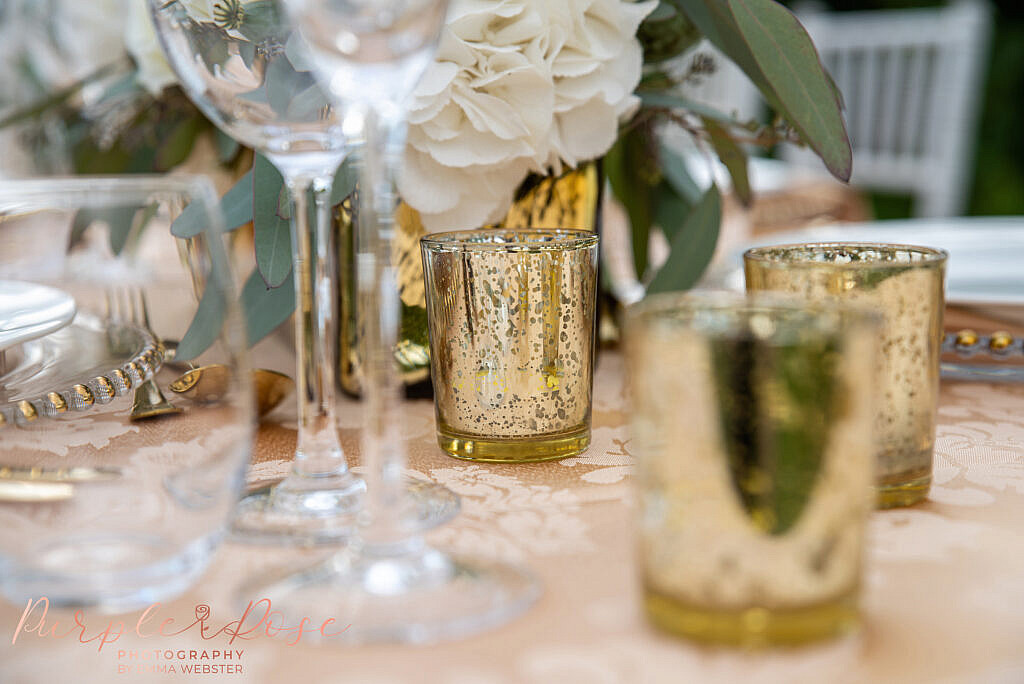 Details on a wedding table