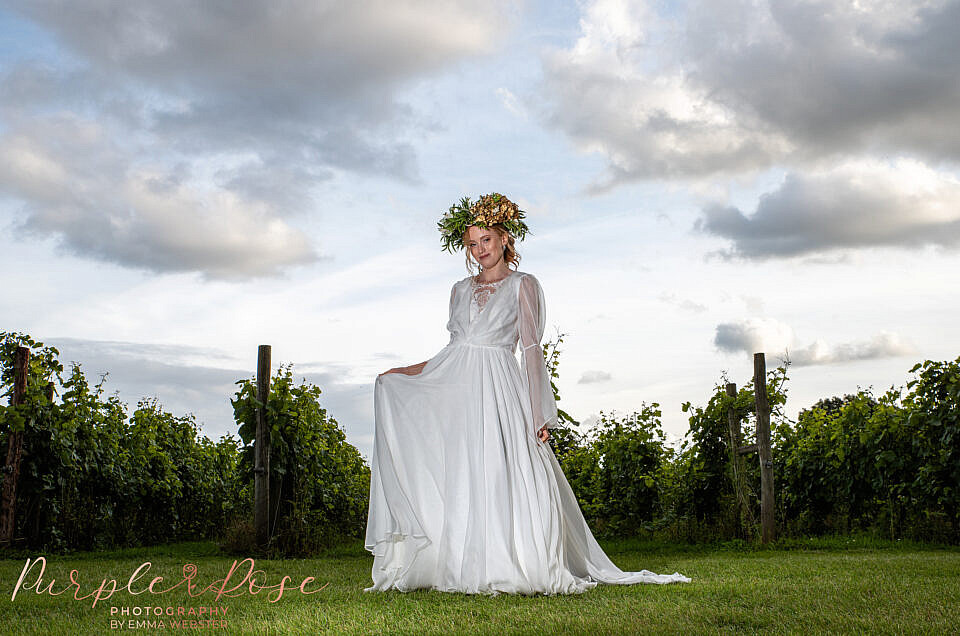 Vineyard wedding inspiration in Buckinghamshire