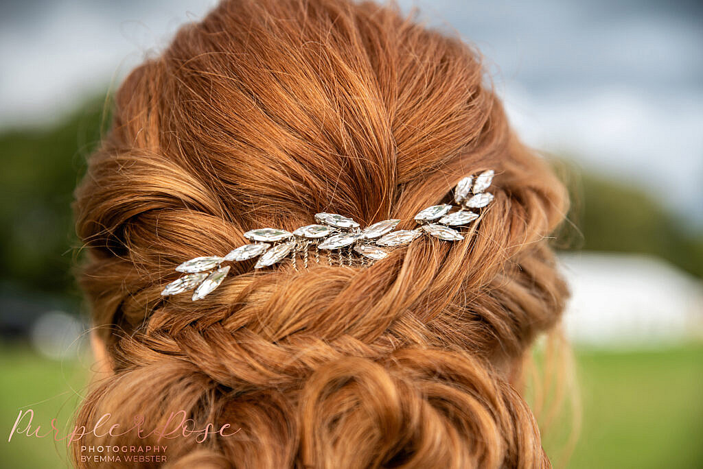 brides hair vine