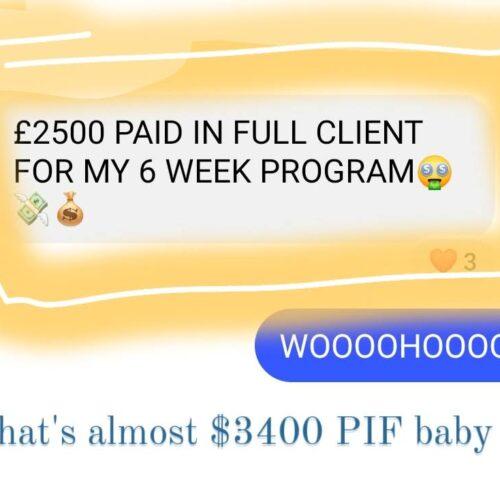 $3400 PIF