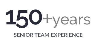 150+ years senior team experience