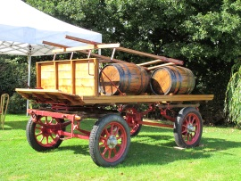 An old Dray restored by Barbara's Dad Sid