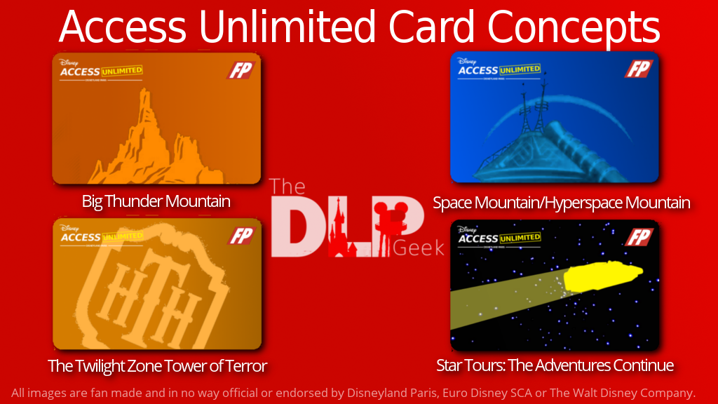 Disney Access Unlimited Card Concepts