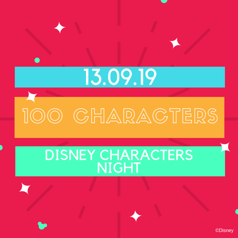 Disney Characters Night announcement