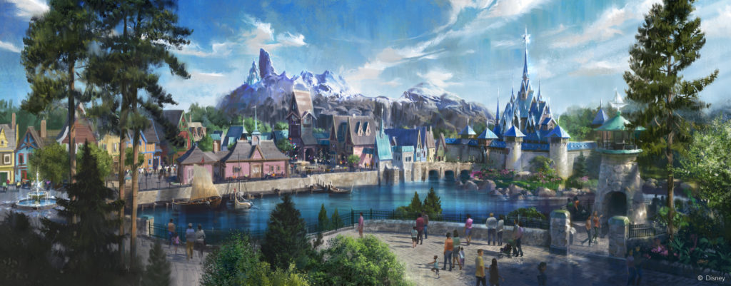 Frozen land concept art