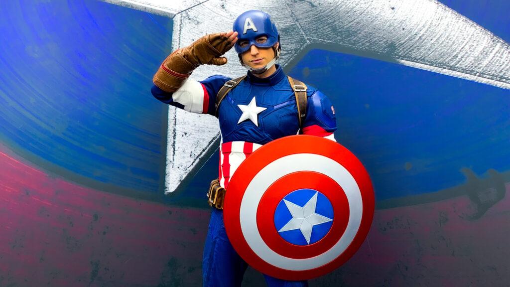 Captain America meet & greet, as part of Marvel Season of Super Heroes at Disneyland Paris