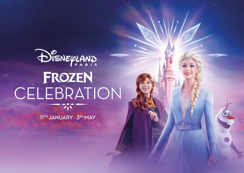 Official visual for Frozen Celebration from 11th January - 3rd May 2020