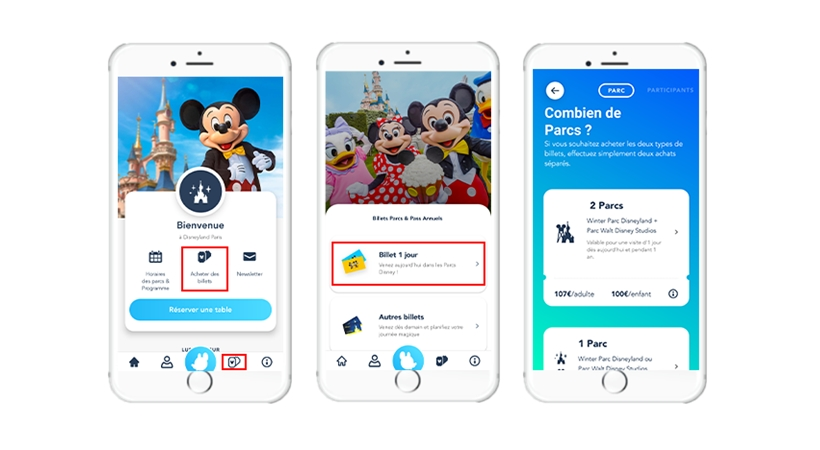 Select tickets can now be purchased via the official Disneyland Paris app, with version 5.3