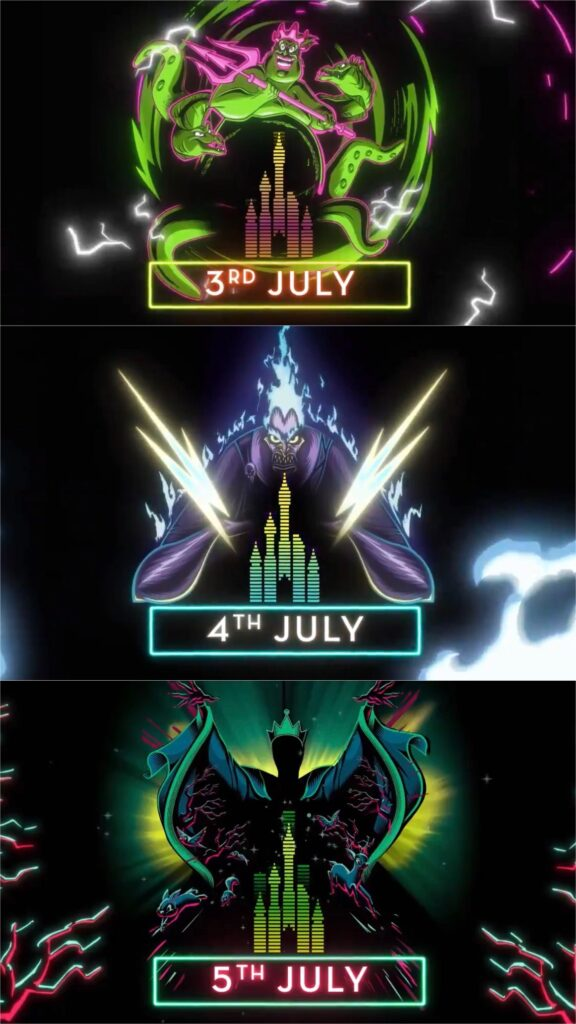 A look at the three nights of Electroland 2020 which will feature Ursula, Hades and the Evil Queen