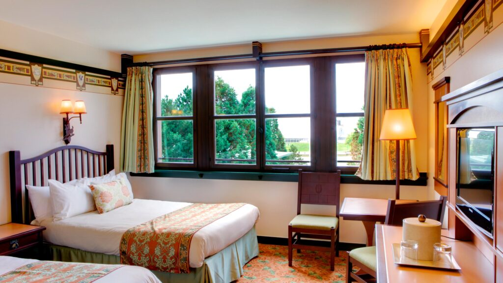 The refurbished rooms at Hotel Sequoia Lodge