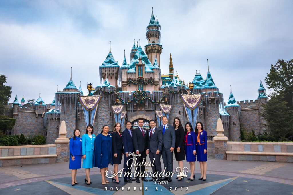 The team of Disney Ambassadors who will be staying on for another year in the prestigious role