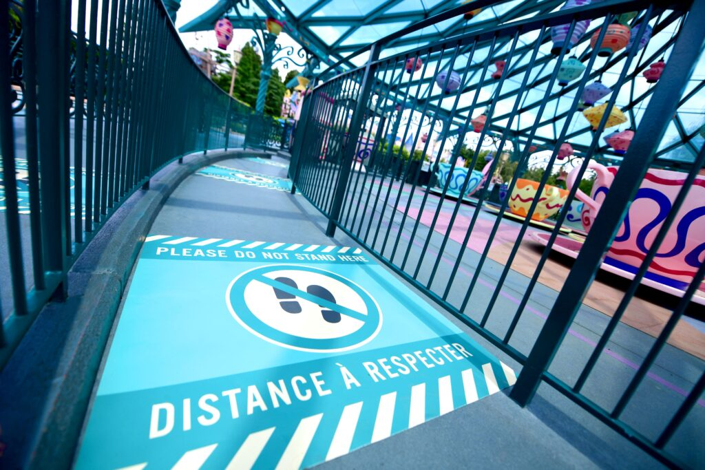 Many health and safety measures such as social distancing have been put in place to ensure Disneyland Paris can reopen safely