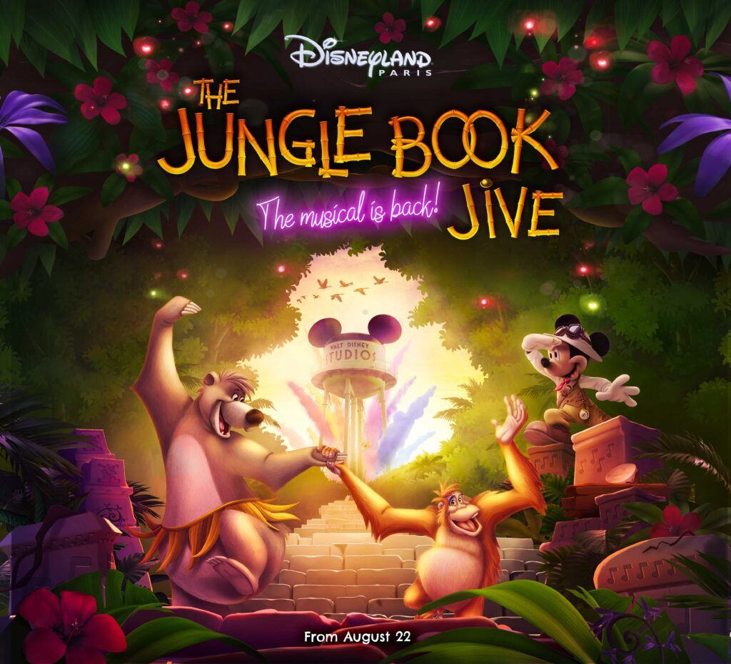 Official visual for The Jungle Book Jive, returning in Walt Disney Studios Park 22nd August.