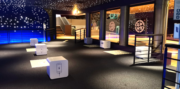 Phone charge stations are being added to Alpha Arcade in Disneyland Paris