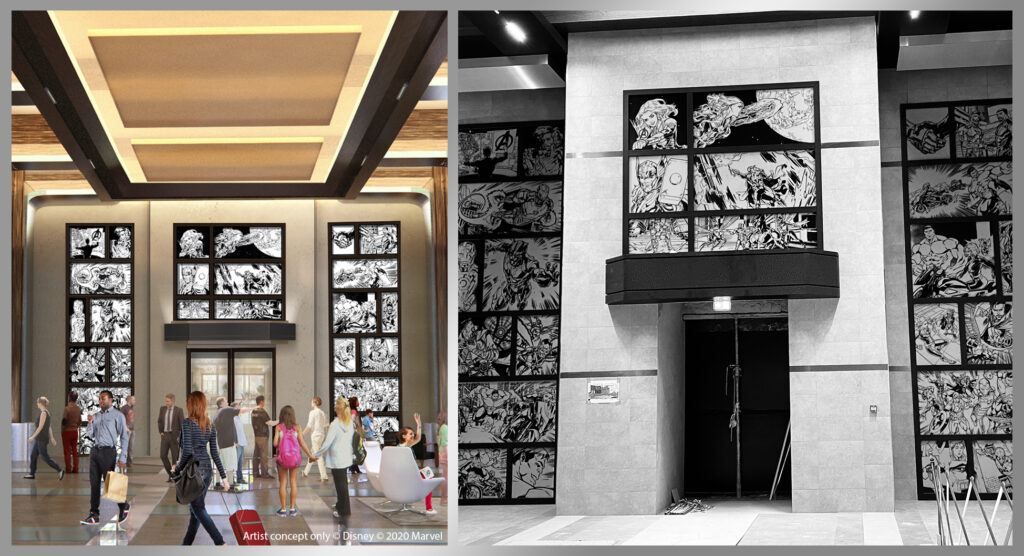 First look at the lobby of Hotel New York - The Art of Marvel as progress continues on the hotel