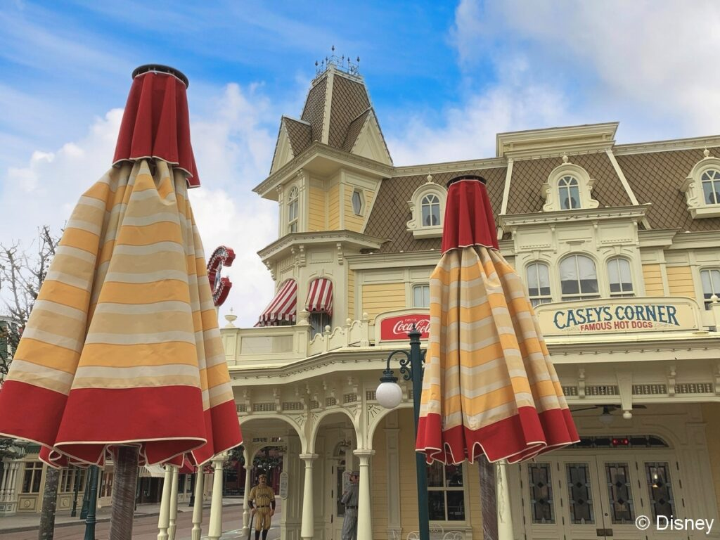 An update on the new parasols, one of many refurbishments underway at Disneyland Paris