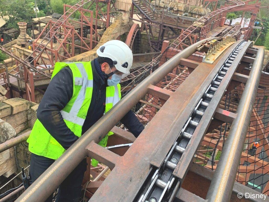 An update on Indiana Jones, one of many refurbishments underway at Disneyland Paris