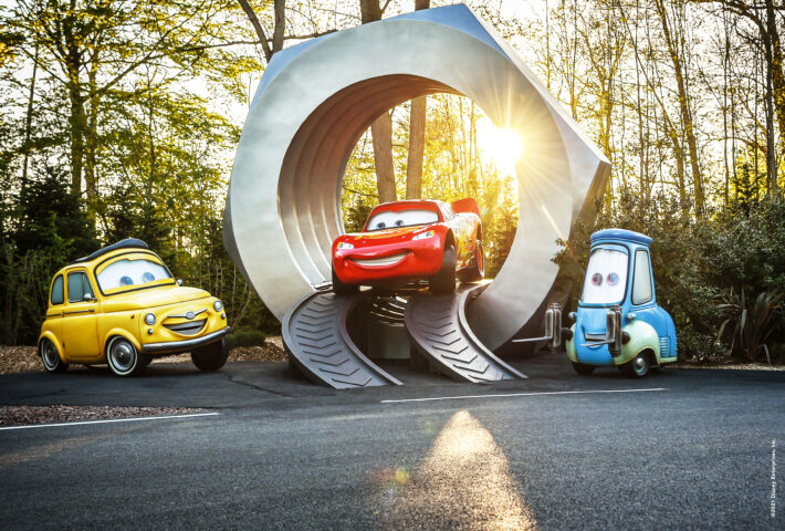 The World's Largest Lugnut, one of the features set to appear in Cars Road Trip when it opens on 17th June