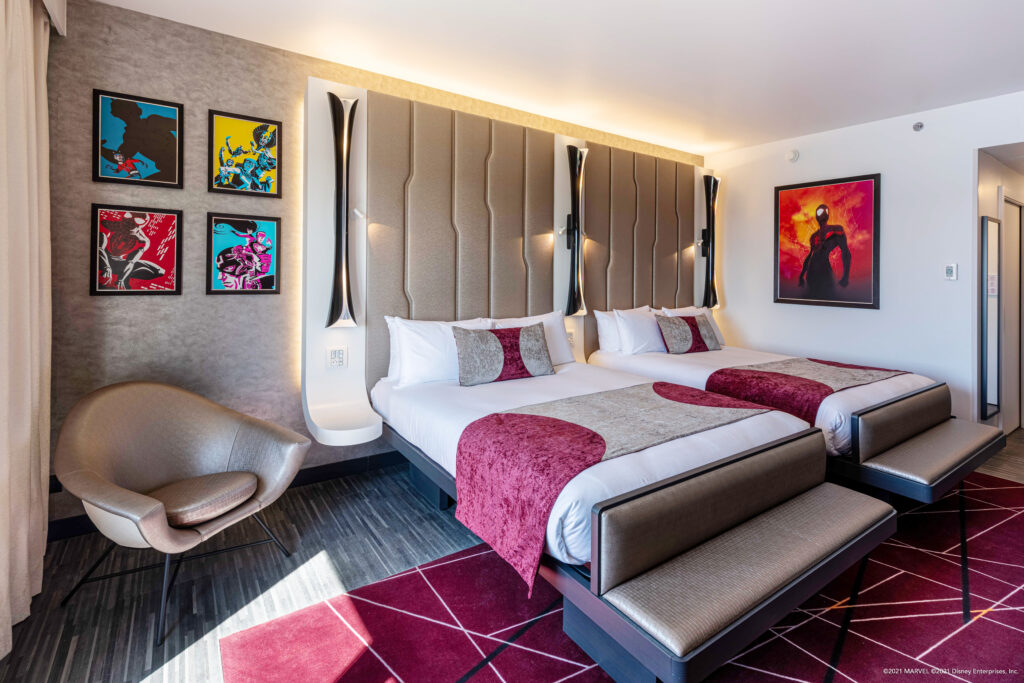 An executive room, part of many available in Disney's Hotel New York - The Art of Marvel when it opens on 21st June